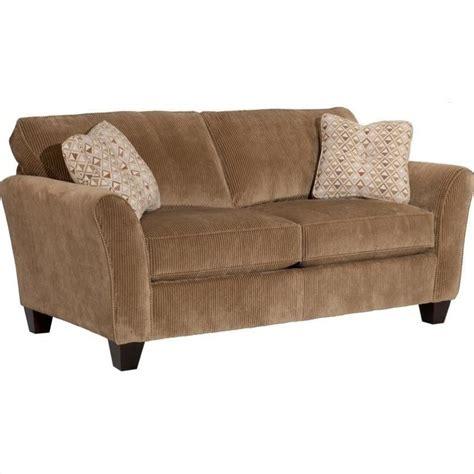 broyhill maddie microfiber mocha apartment sofa