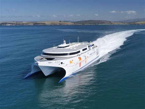 Largest Catamaran Ferry by New High Speed Wave Piercing Catamaran Ferry Arrives In
