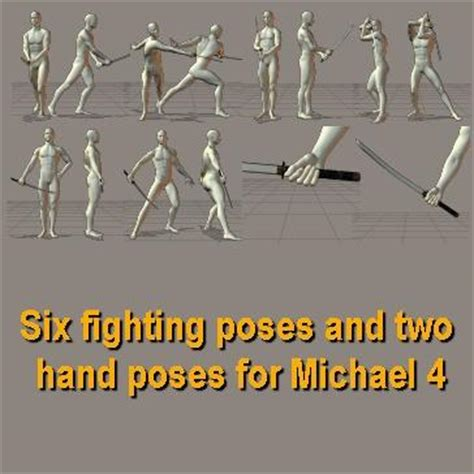 fighting poses  hand poses   poser sharecg