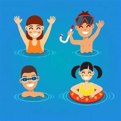 Swimming Vectors Sea Fun Vector Having