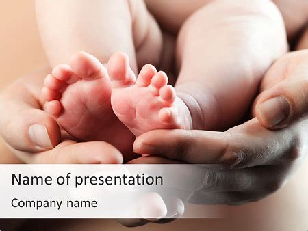 cute baby feet powerpoint template backgrounds id