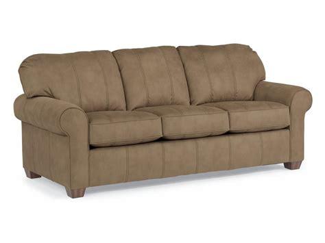 Flexsteel Loveseats by Flexsteel Living Room Nuvoleather Three Cushion Sofa N5535