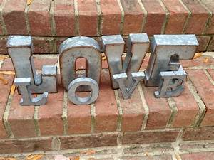 on sale metal letters wall decor 4 galvanized metal With galvanized metal letter wall decor