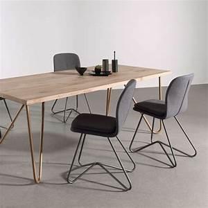 Chaise Design Metal : chaise design de salle manger avec coque en tissu rembourr e et m tal harmon 4 ~ Teatrodelosmanantiales.com Idées de Décoration