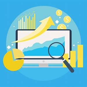 Website Traffic Growth Banner Computer With Diagrams