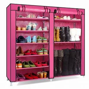 9, Layer, 2, Rows, Double, Shoe, Boot, Closet, Rack, Shelf, Storage, Organizer, Cabinet, Portable, Cabinet