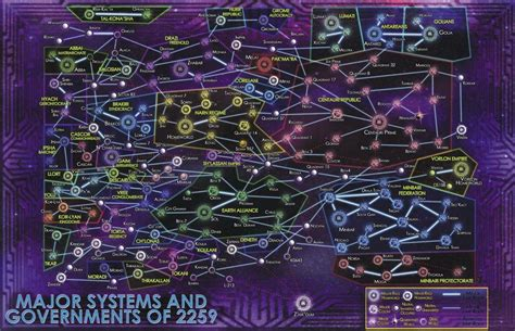 Detailed Map Of The Universe Of Babylon 5 - Sci-Fi Design