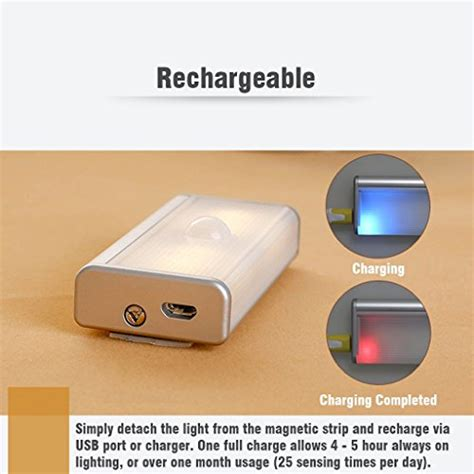 Led Lights For Room Battery Operated by Veepeak Rechargeable Led Motion Sensor Light Closet Light