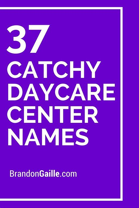 39 catchy daycare center names 379 | 147aef8ebe957b57d9153631ea8eee9c