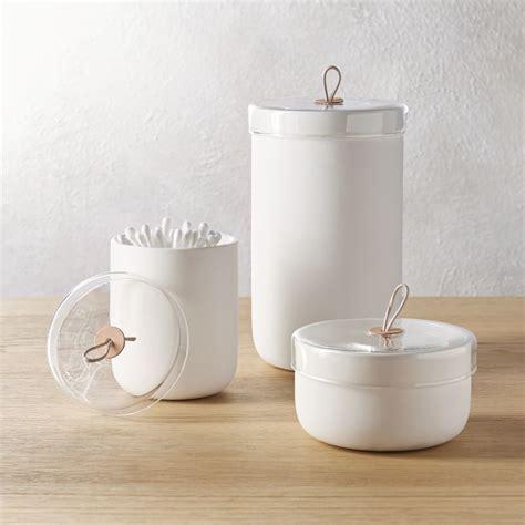 ventura white ceramic canisters cb