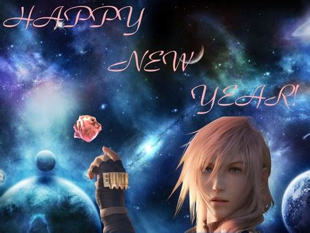 happy  year final fantasy video games background