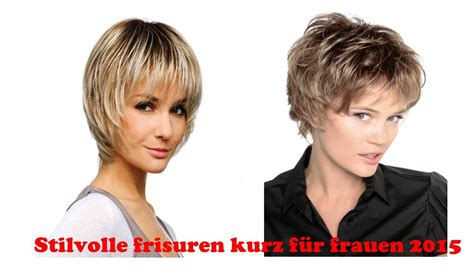 stilvolle frisuren kurz fuer frauen  youtube