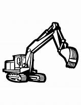 Construction Truck Tow Coloring Pages Clipart Vehicle Line Monster Drawing Tools Printable Equipment Backhoe Worker Clipartmag Getdrawings sketch template