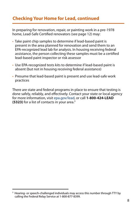 epa pamphlet  protect  home  lead based
