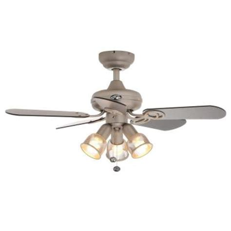 Hampton Bay San Marino 36 In Brushed Steel Ceiling Fan