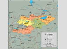 Map of Kyrgyzstan, Kyrgyz Republic Maps Mapsofnet