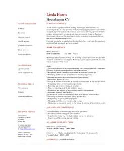 Hospital Housekeeping Description For Resume by Housekeeping Resume Template 4 Free Word Pdf Documents