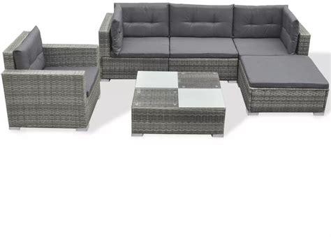 outdoor xl lounge set sofa chair table rattan patio garden