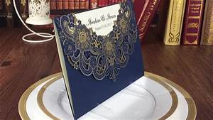 low price cheap laser cut wedding invitations with blue With cost of laser cut wedding invitations