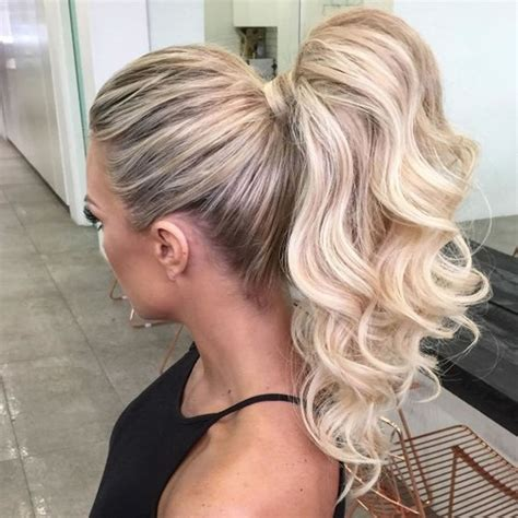 ponytail hairstyles blonde hair hairstyle curly attractive most wrap much