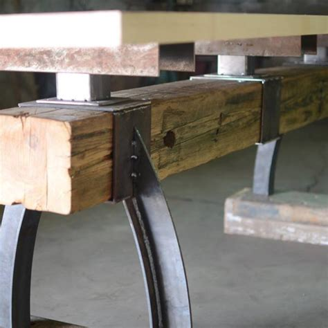 rustic industrial table l post beam rustic industrial bar height table the