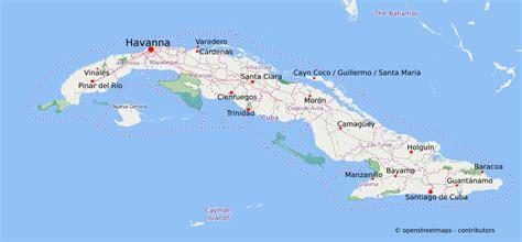 kuba karte und sehenswuerdigkeiten kuba reisen