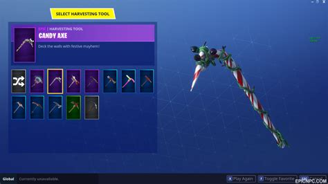 account selling fortnite account nog ops candy cane axe