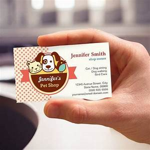 Polka Dots Business Cards Pet Shop Cute Polka Dots Business Card Zazzle Com