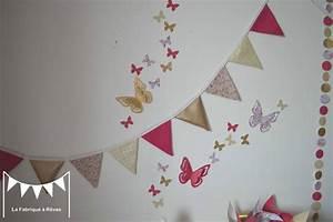 Guirlande Chambre Fille : guirlande fanion chambre bebe galerie avec dacoration ~ Preciouscoupons.com Idées de Décoration