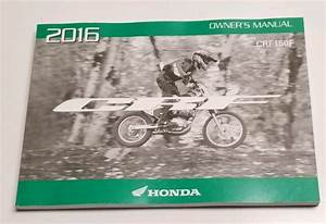 2016 Honda Crf150f Owners Manual Operators User Guide Crf