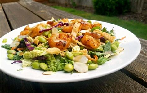 What it took for 2 huge awesome salads: Spicy Thai Shrimp Salad {Applebee's Copycat Recipe}