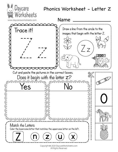 beginning sounds letter  phonics worksheet  preschool