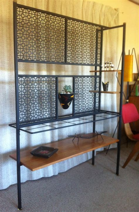 mid century australian room divider  perforated metal