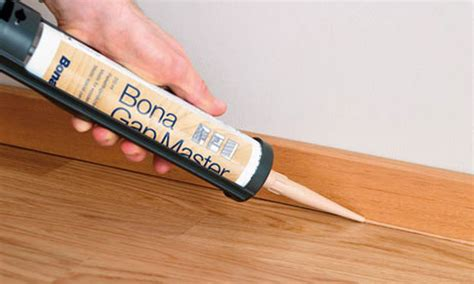 Check here for the best wood filler options you can use. Bona Gap Master Carbonised Bamboo Filler 310ml