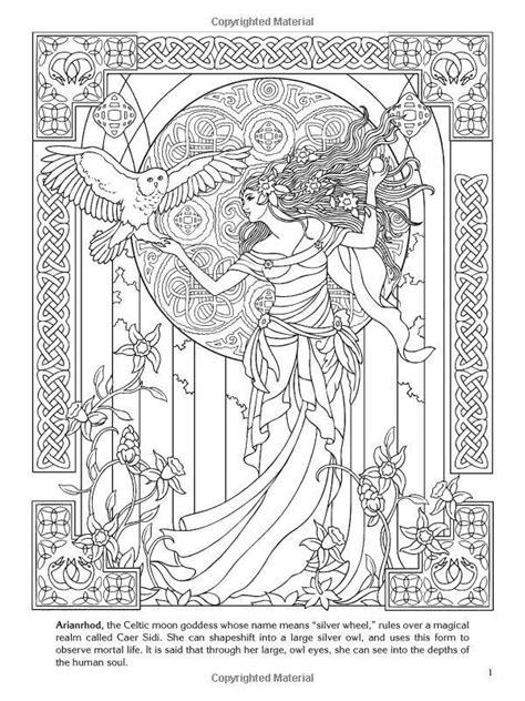 Adult Coloring Book Goddess Angel Fairy Ancient Culture