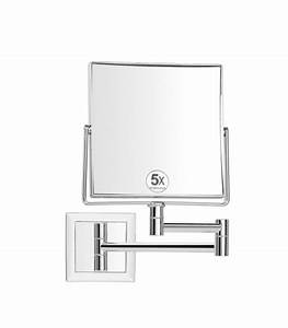 miroir grossissant x5 mural design rond aimante andrea With miroir mural lumineux
