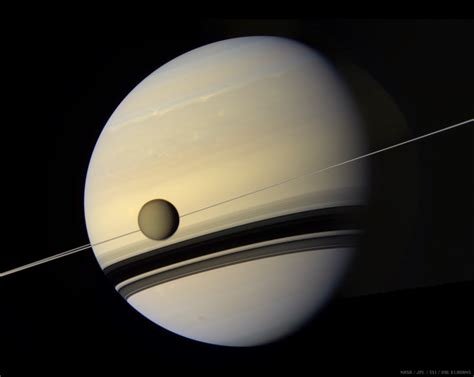 saturn color saturn and titan in true color the planetary society