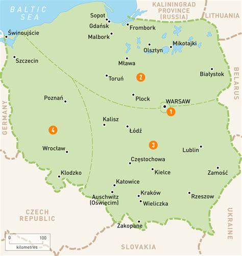 map  poland poland regions rough guides rough guides