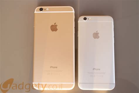 iphone 6 v s iphone 6 plus השוואה iphone 6 לעומת iphone 6 plus במי לבחור