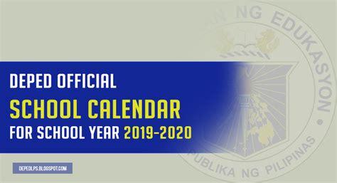 deped school calendar school year deped teachers club