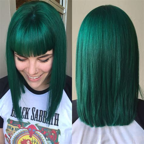 Emerald Green Hair By Me Jamie And Scissortale In Okc