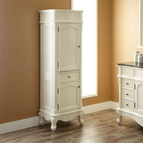 antique white vanity  matching linen tower google