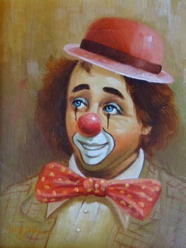 hoppin clown painting ebay