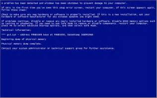 Blue Screen Death Windows 1.0
