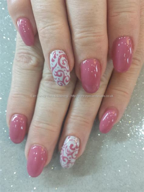 eye candy nails training pink damask gel polish
