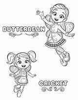 Coloring Pages Cafe Printable Butterbean Butterbeans sketch template