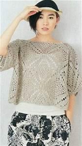 Square Motif Crochet Blouse Pattern  U22c6 Crochet Kingdom