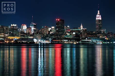 view   york city  hoboken  night fine art