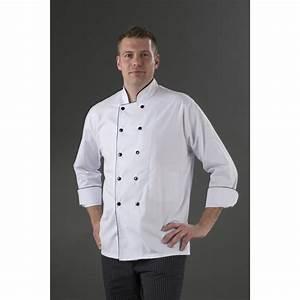 Tenue De Cuisine Femme : veste cuisinier double boutonnage manches longue fond blanc my tablier ~ Teatrodelosmanantiales.com Idées de Décoration
