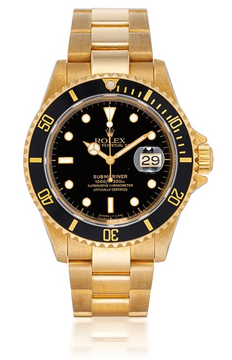 rolex submariner ref 16618 yellow gold automatic